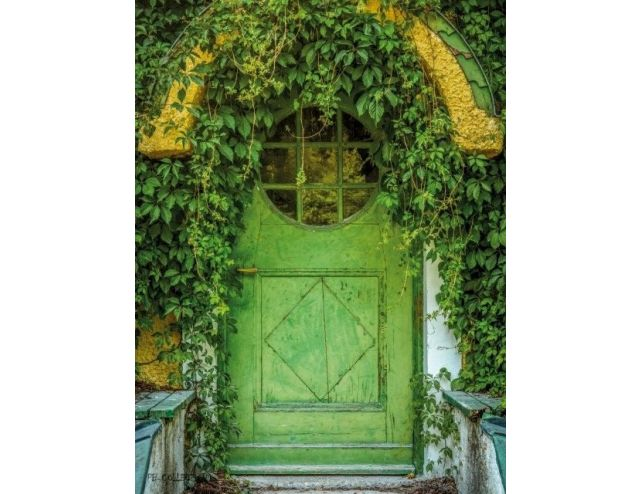 Tuinschilderij English Cottage Door