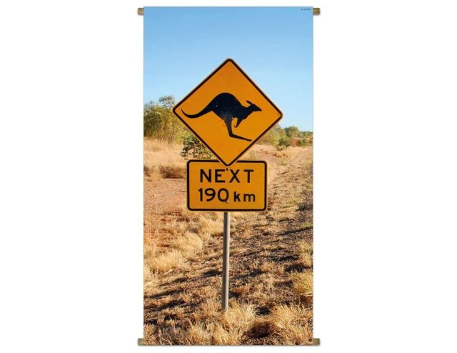 Banner Down Under Road Sign 85x170cm